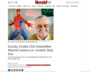 Screenshot of article published by The Herald on 11-13-18