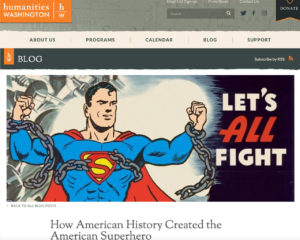 Screenshot of article published by Humanities Washington on 3-9-16