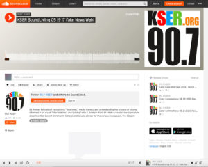 Screenshot of radio broadcast by KSER on 5-19-17
