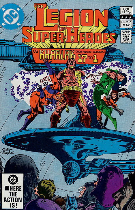 The Legion of Super-Heroes (1980) #287 cover