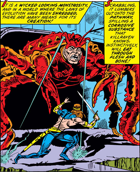 Man-crab mutant panel