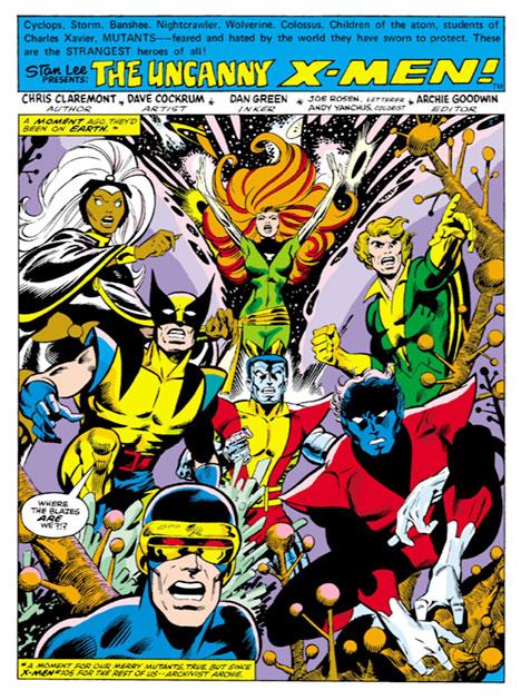 X-Men #107 splash page