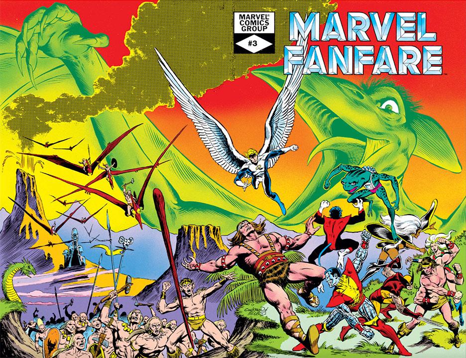 Marvel Fanfare #3 wraparound cover