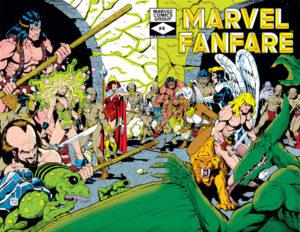 Marvel Fanfare #4 wraparound cover