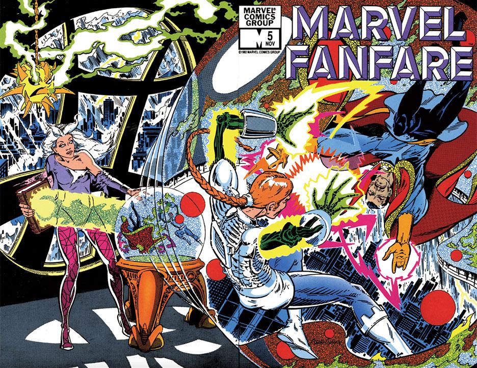 Marvel Fanfare #5 wraparound cover